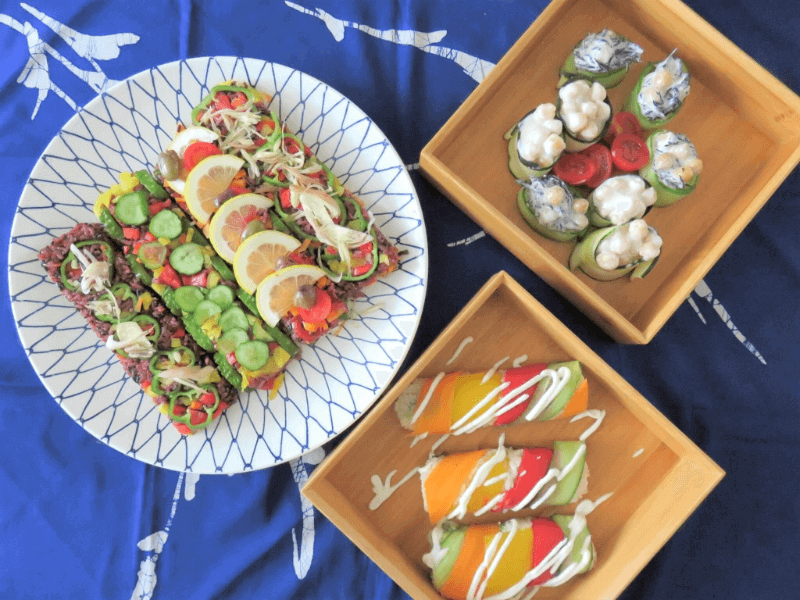 vege sushi, cooking class