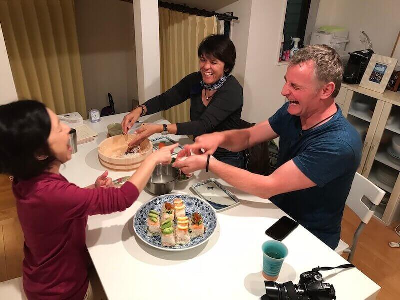 sushi class, tokyo