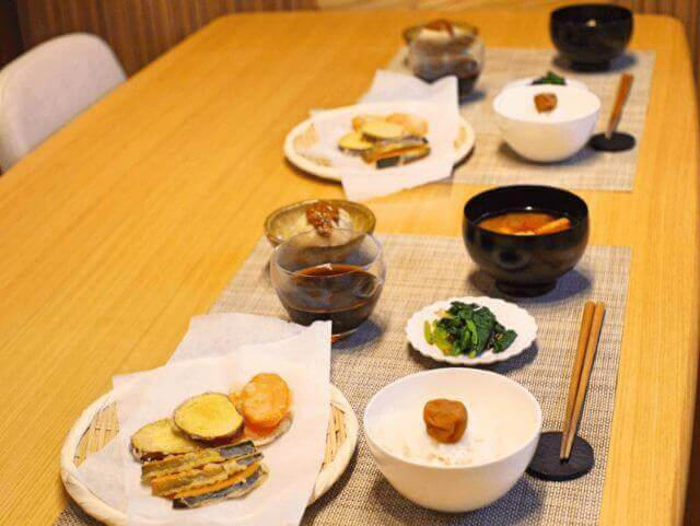 shojin ryori and tempra cooking