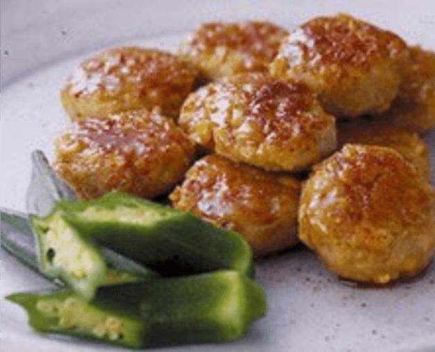 The chicken meatball Teisyoku