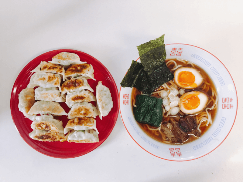 Ramen and Gyoza (Japanese dumplings)