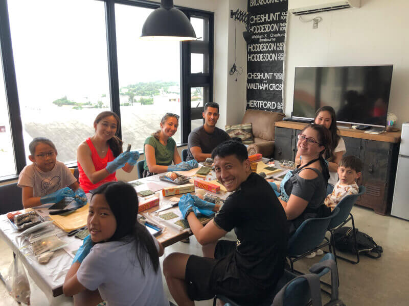 Japanese sushi art cooking class