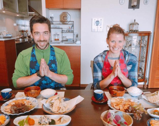 Standard Washoku~Teyaki chicken and Tempura~with tea ceremony experience