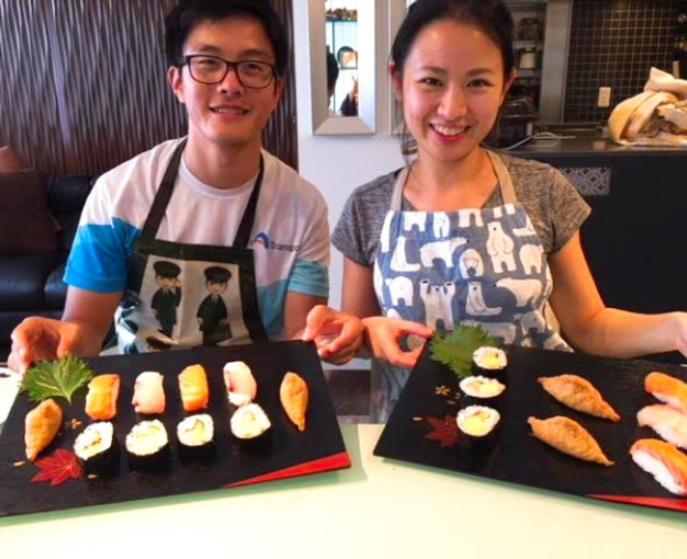 Enjoy making Sushi, miso soup & Matcha(Tea ceremony)!