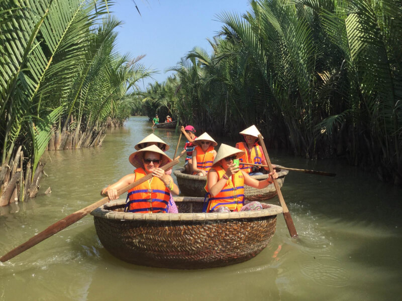 Hoi An Market Tour, Basket Boat Ride,Cooking Class