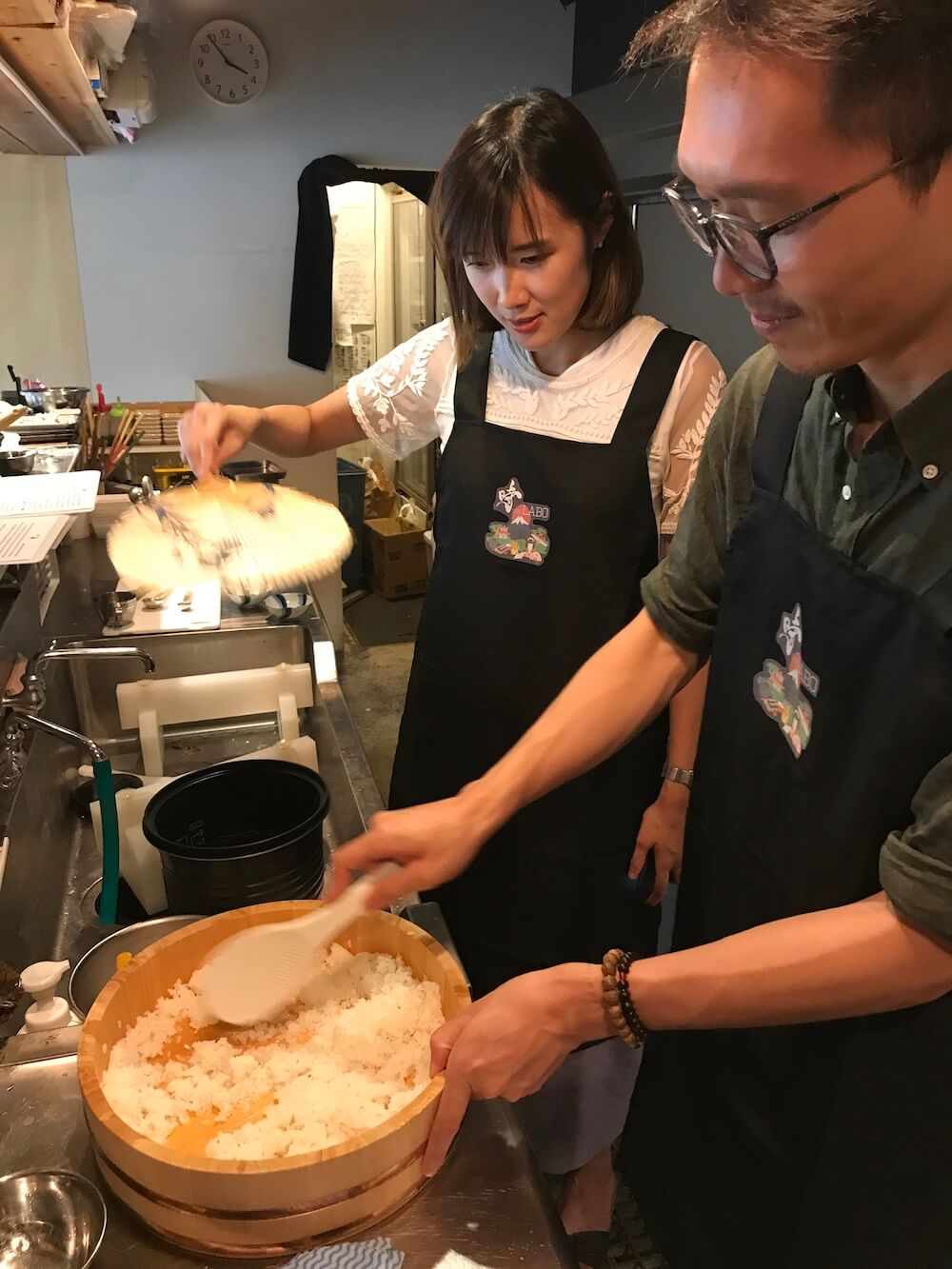 For Intermediate and advanced, Hands-On Japanese Cooking Class in a Restaurant by a Chef On Saturdays.