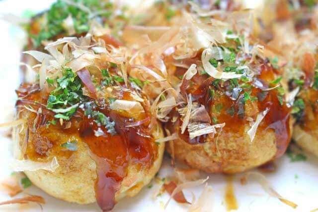 Homemade Takoyaki or Okonomiyaki