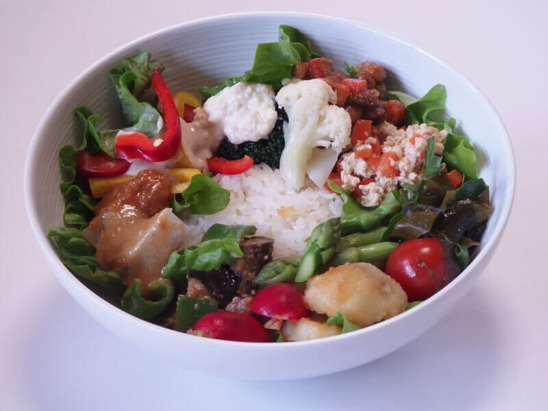 Healthy & well balanced Don-bowl cooking