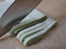 Handmade Matcha-Udon with Vegetable Tempura