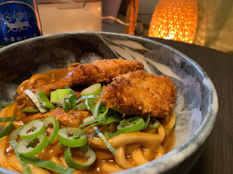 Japanese Curry Udon Cooking