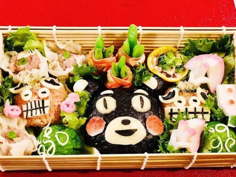 Kumamon Spring Food Art Box
