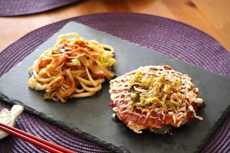 Make Veggie Okonomiyaki /Yaki-Udon & Photo shooting with Yukata