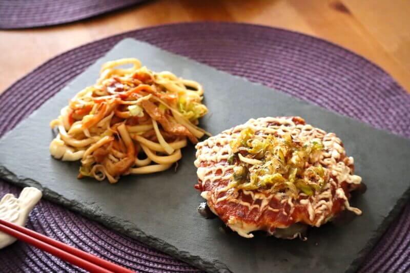 Make Veggie Okonomiyaki & Yaki-Udon