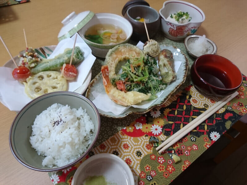 Authentic TEMPURA course cooking class