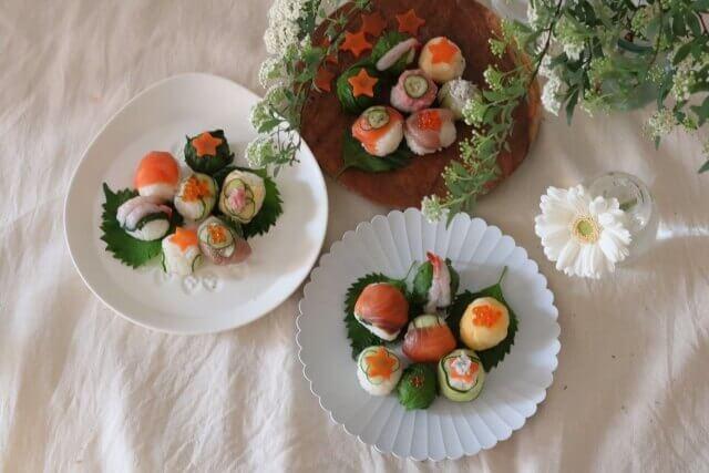Temari-sushi : traditional Japanese susui ball