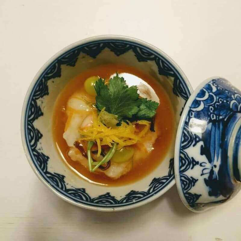 秋天的菜譜/Autumn special menu:  混合天普羅 /mixed Tempra & 4-dish course