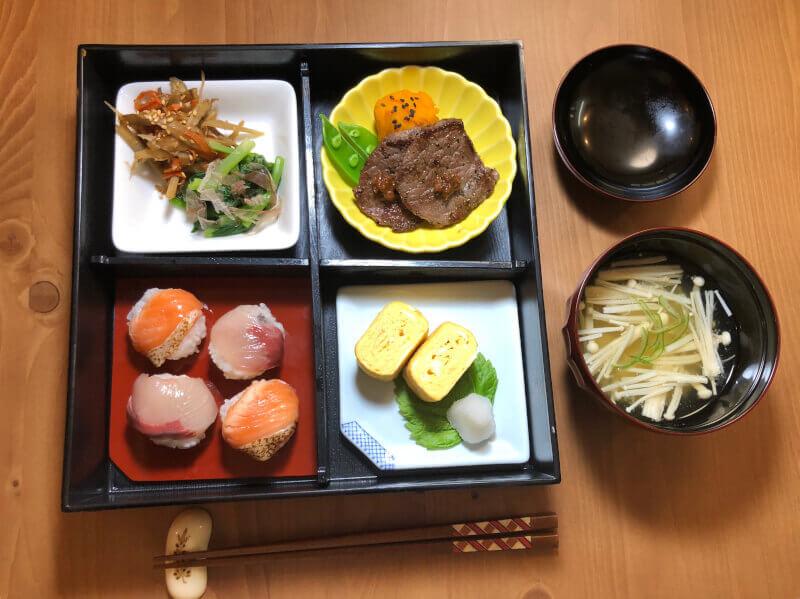 Temari Sushi& Wagyu beef Bento Class&Street walking