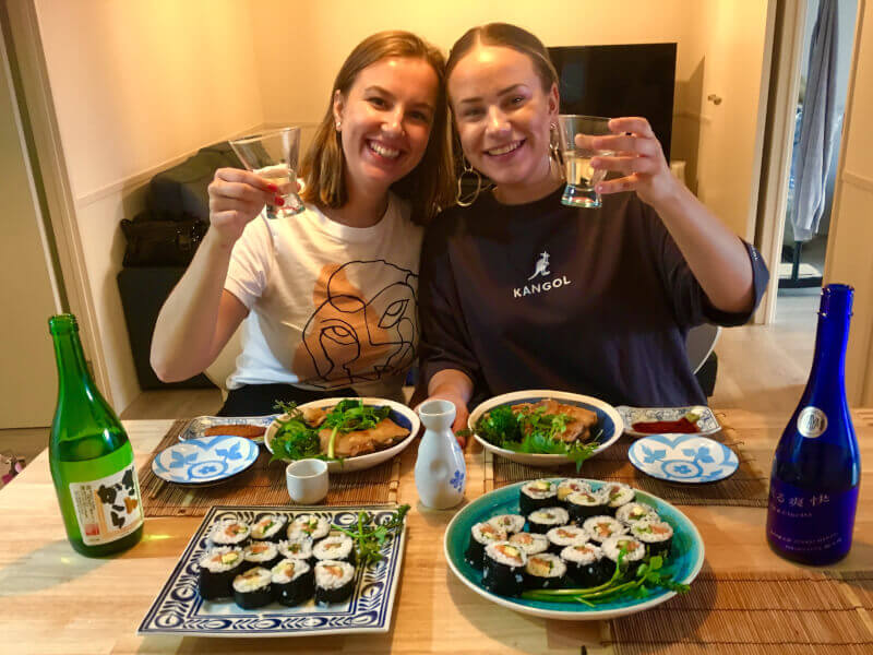 Homemade Sushi Rolls and Chicken Teriyaki - Class