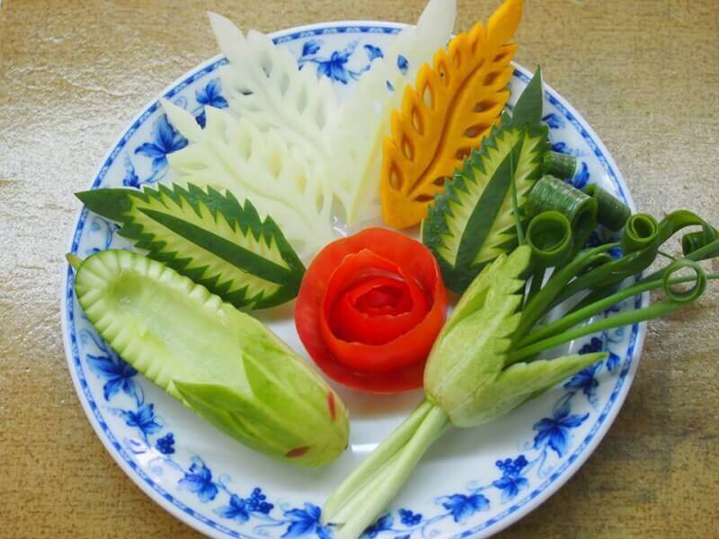 Vegetable Carving & Thai Food Cooking