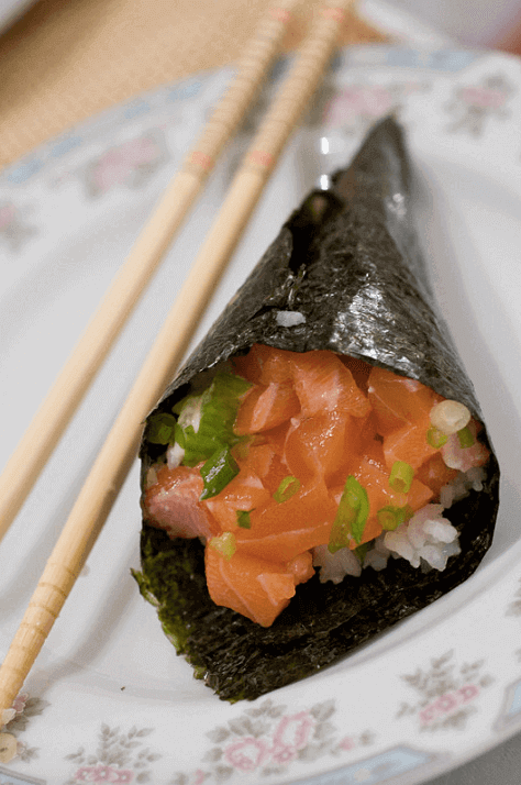 Temaki sushi(Hand rolled Sushi) Making Experience!