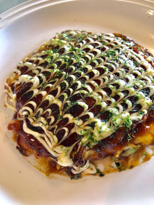 Okonomiyaki Making, Japanese Savory Pancake-