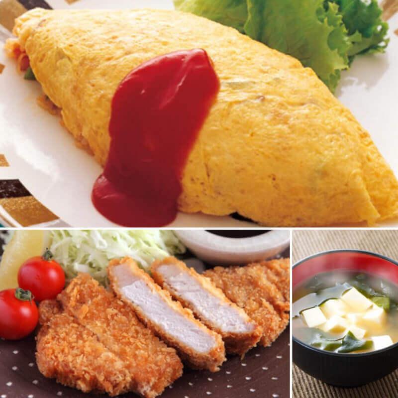 Omu-rice and Tonkatsu lesson