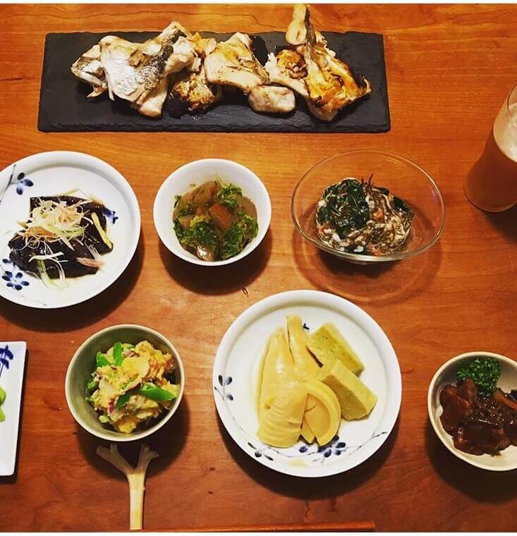Japanese Vegetable dishes and home made cooking