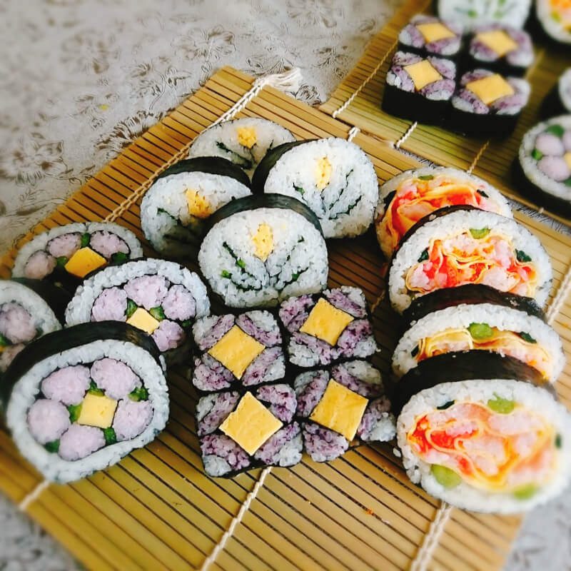 Decorative Rolled Sushi