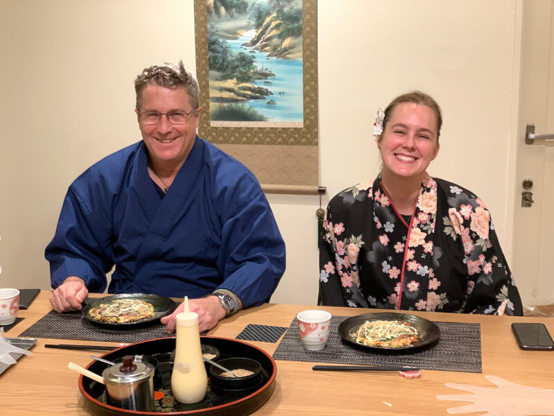 Takoyaki & Okonomiyaki Cooking Class in Kyoto with Local chef