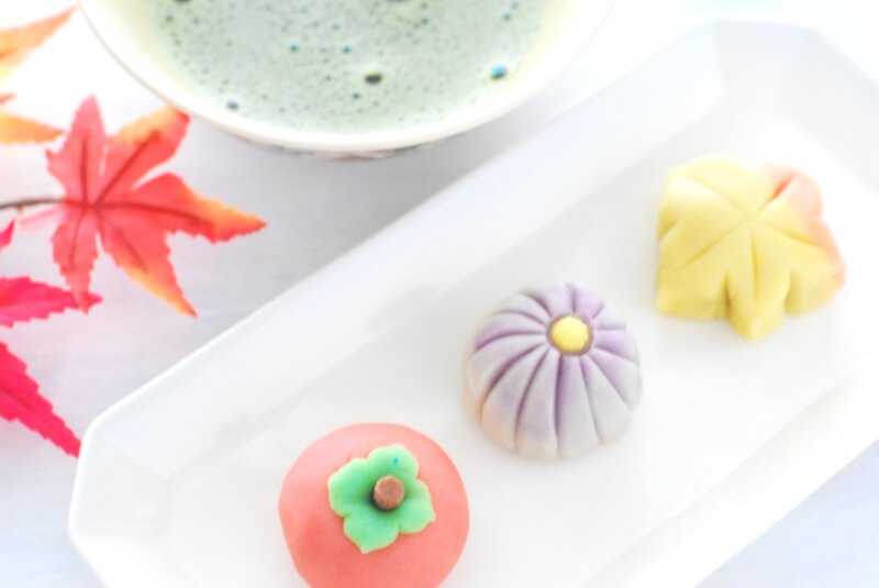 Autumn themed Japanese Sweets (Wagashi) at chef's home