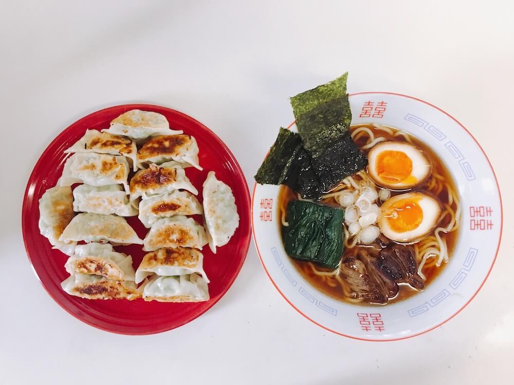 Vegetarian Ramen and Gyoza