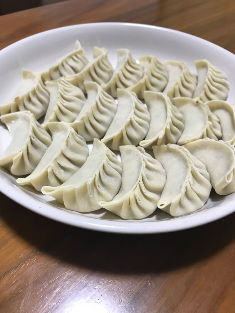 The making of my favorite gyoza