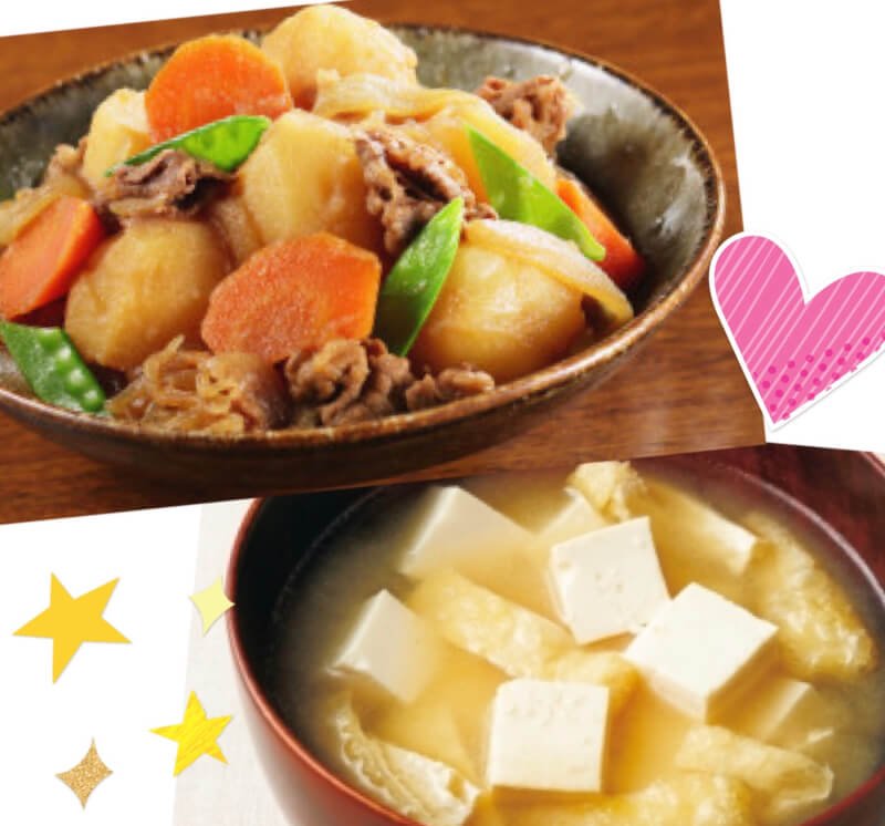 ★Japanese mom menu 『Nikujaga』&『Omisosiru』★