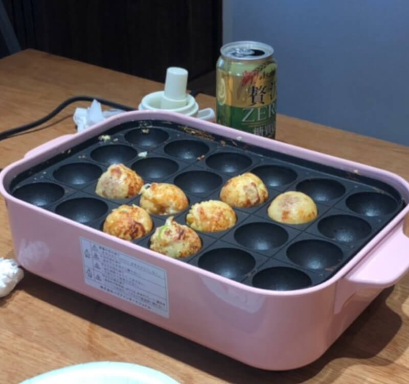 Let's make takoyaki by ourself