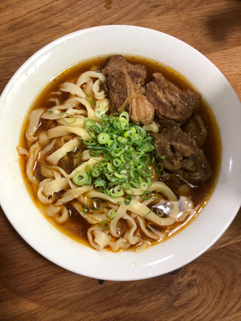 Taiwanese beef udon in JP