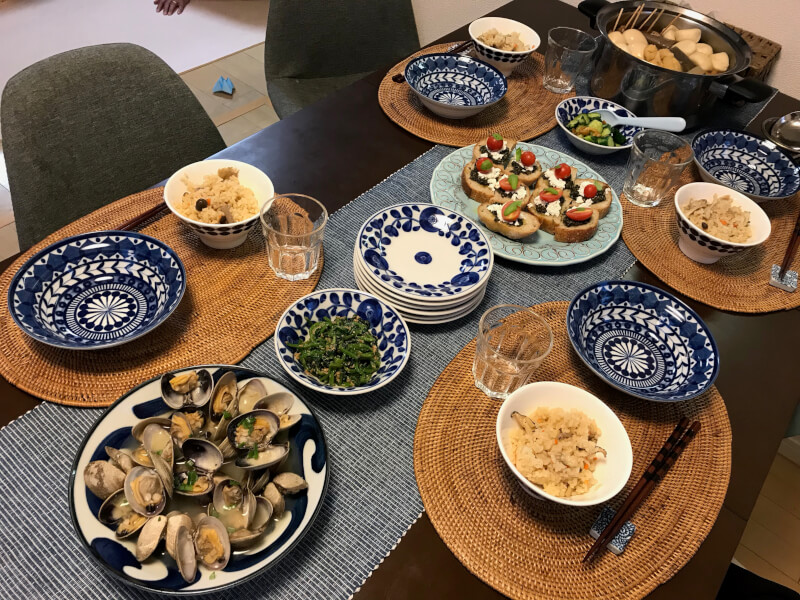 Japanese style home party menu