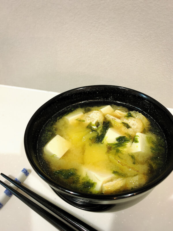 Fried eggs (Japanese Tamagoyaku),Miso soup