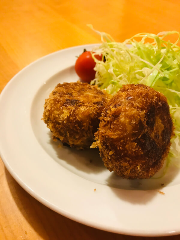 Home made Japanese Meal of Croquette set meal