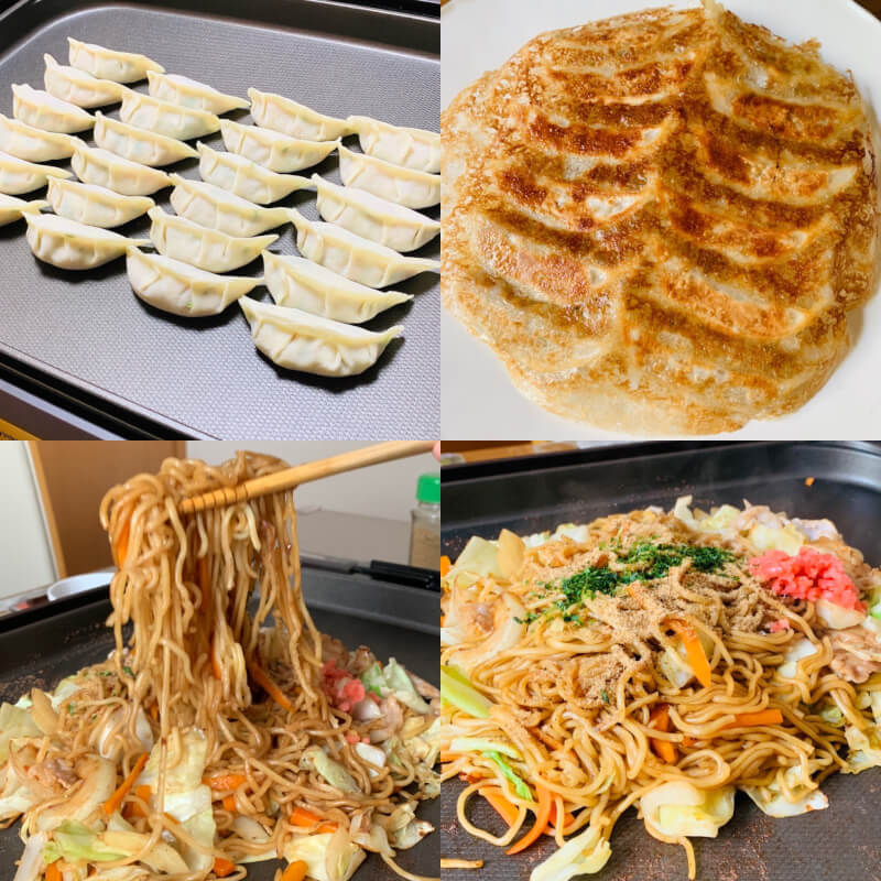 【Yakisoba and Gyoza】 You can make two types of dishes: Yakisoba and Gyoza