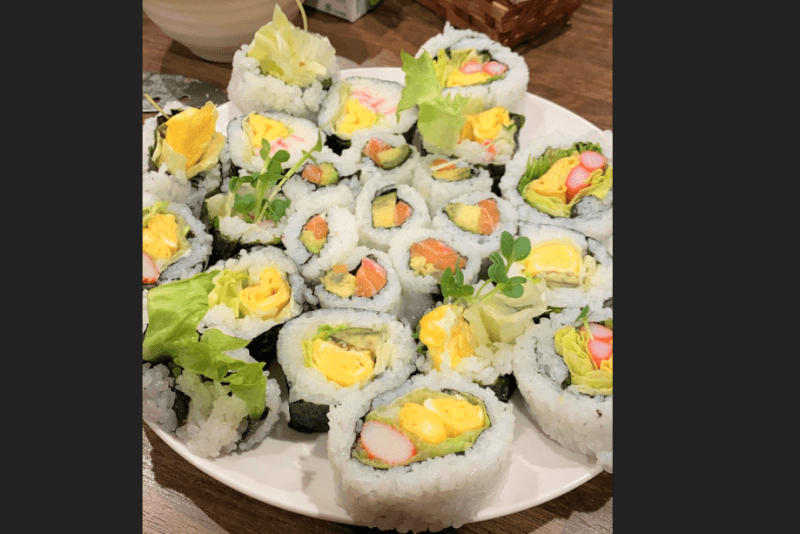 Colourful Japanese Sushi roll