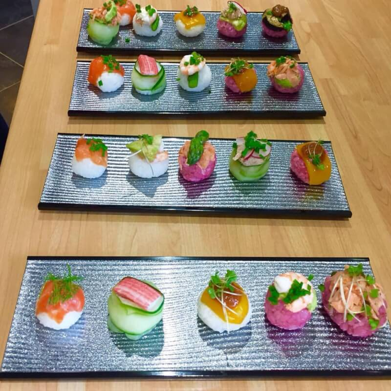 Two types of Sushi making class, Temari Sushi and Uramaki Sushi