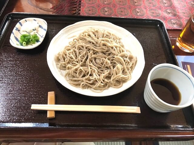 Handmade  soba noodle s in a  traditional  farmhouse in Kyoto