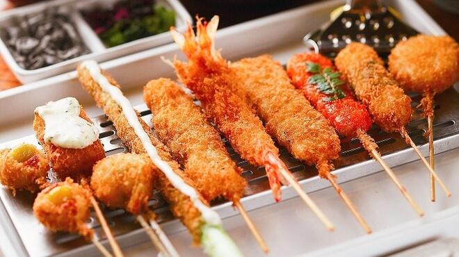 大阪串炸与梅干饭团(素食OK)(Osaka Kushikatsu & Plum Rice Ball、vegetarian & vegan acceptable)