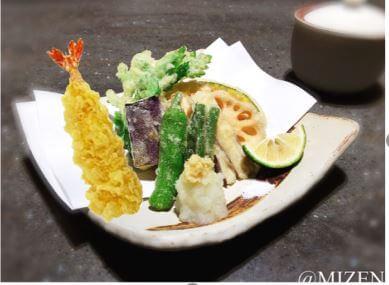 時鲜天婦羅与酱香飯团(素食OK)(Seasonal Tempura & grilled rice ball、vegetarian & vegan acceptable)