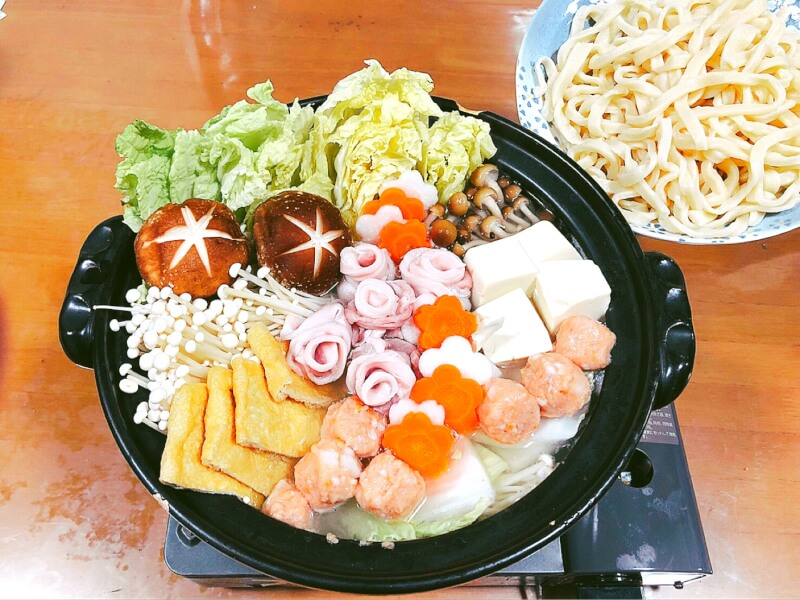 Let's make udon and chanko nabe, a traditional Japanese dish★