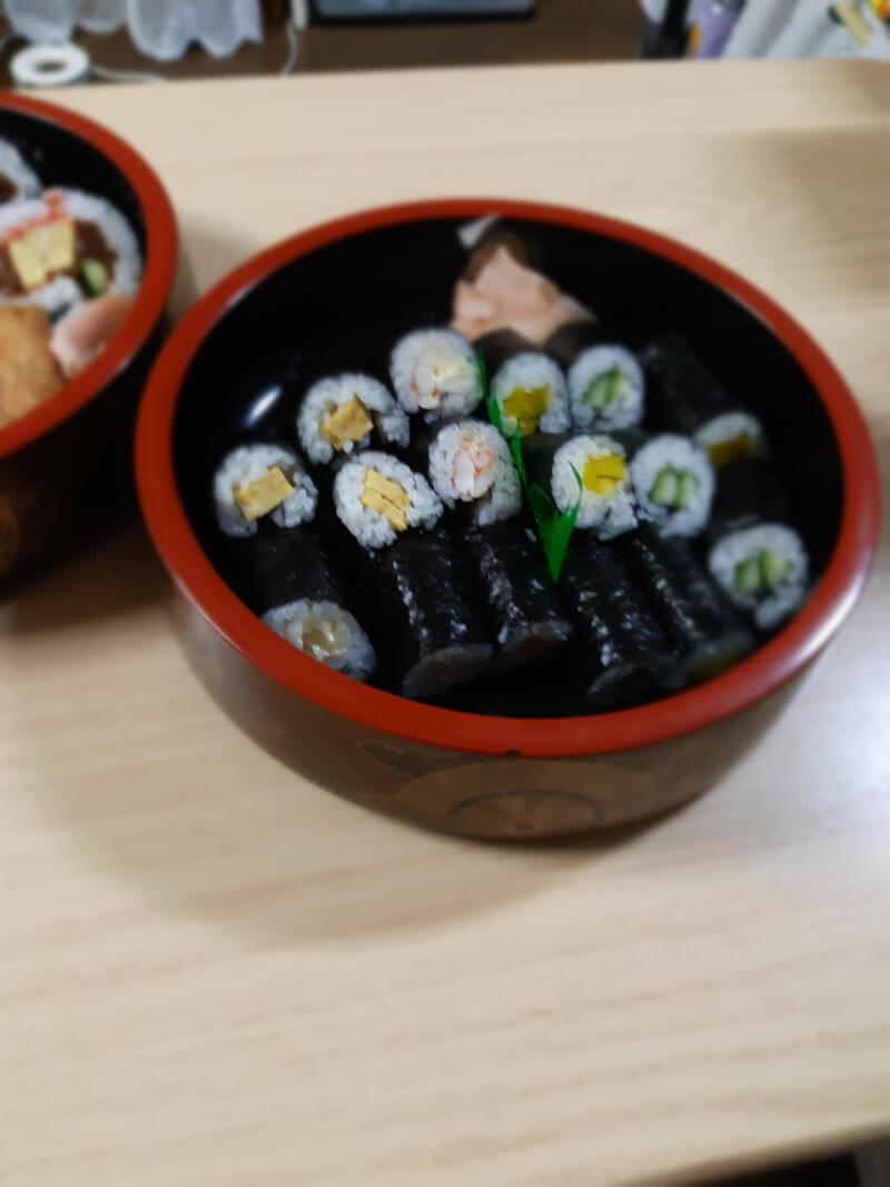 Arrangement sushi roll