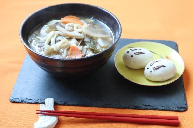Make Kenchin-style FRESH UDON & USAGI MANJYU