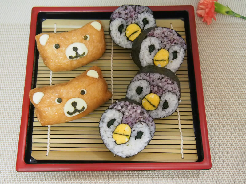 Cute! Decoration sushi roll and inarizushi class