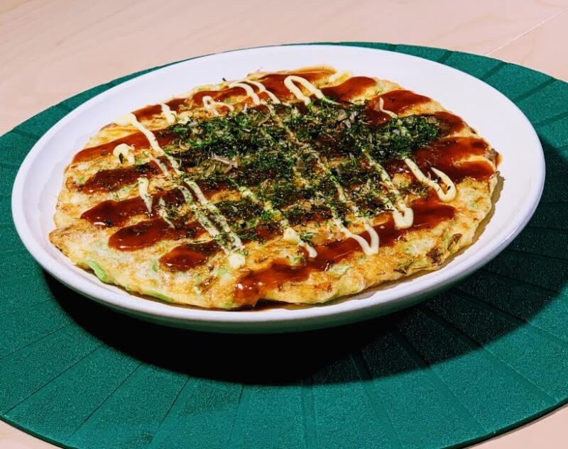 Okonomiyaki and Yakisoba Japanese hot-plate dishes