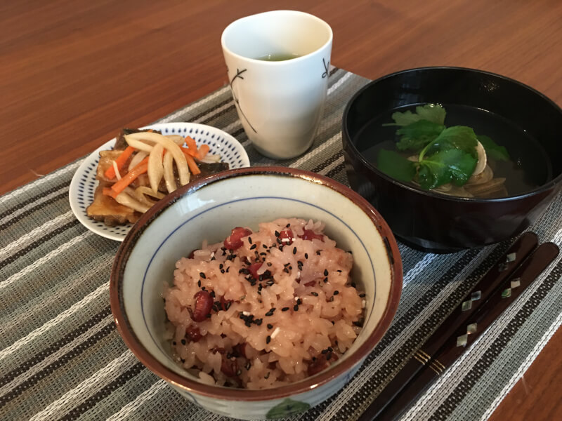 Cook Japanese traditional celebration dish Red rice!!